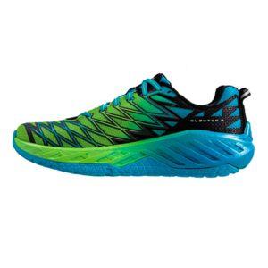 Hoka One One Chaussures Clayton 2 bleu vert aR1zA