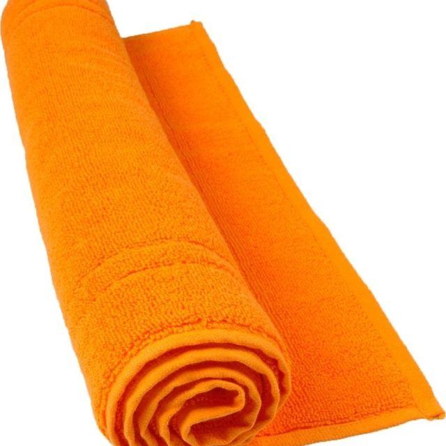 100POURCENTCOTON Tapis de bain 50x80 cm 900 g/m2 couleur Orange 100% coton gamme Luxury