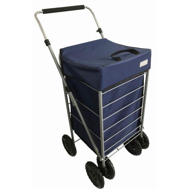 bo time chariot de courses 6 roues en m tal capacit 70l roues avant mutidirectionelles. Black Bedroom Furniture Sets. Home Design Ideas