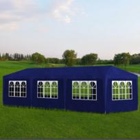 rocambolesk superbe tonnelle pavillon de jardin bleu 3x9m neuf pas cher achat vente tentes. Black Bedroom Furniture Sets. Home Design Ideas