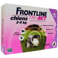 Frontline - Tri-Act 6x0.5ml - Pour chien de 2-5kg