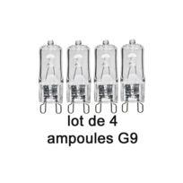 Duralamp Ampoules - Lot de 4 Ampoules Halogène G9 42 W Bipin Blanc Chaud