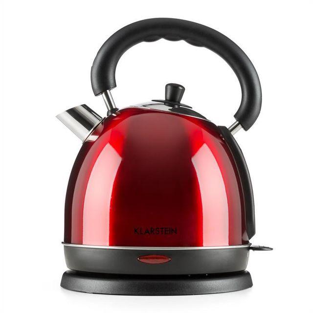 KLARSTEIN Teatime Bouilloire électrique style théière rétro 3000 W 1,8l acier