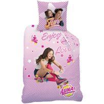 Disney - Housse de couette Soy Luna Roller 140x200 + taie 63x63 enfant 100 % coton