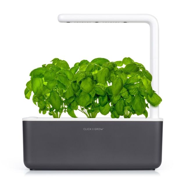Click & Grow Click&Grow Smart Garden 3, Jardinière avec Led - Antracite