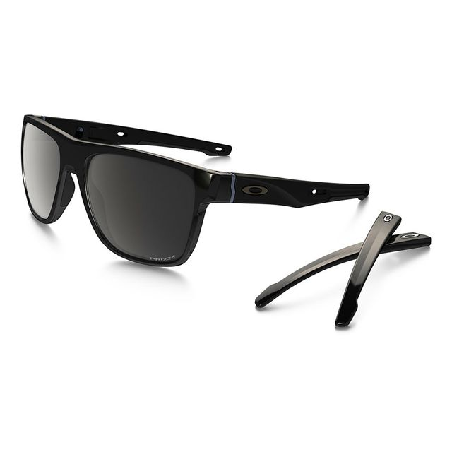 b375c87e4f27f4 Oakley - Lunettes Oakley Crossrange Xl noir brillant avec verres Prizm  Black Polarized