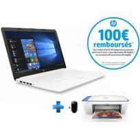 HP - 15-DA0015NF - Blanc + Souris sans fil X3000 + Imprimante Deskjet 2630