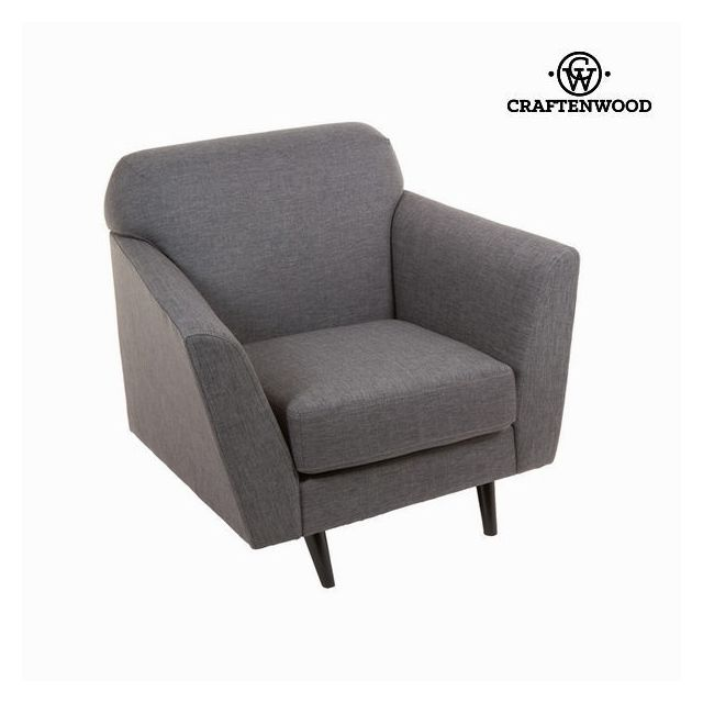 marque generique fauteuil couleur gris en tissu synth tique d coration vintage ann e 60 r tro. Black Bedroom Furniture Sets. Home Design Ideas