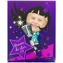 Promobo - Cadre Photo Enfant Rigolo Graine de Star Célébrité