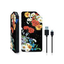 I-PAINT - Powerbank micro USB 3000 mAh - Black Flower