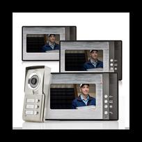 Auto-hightech - Interphone vidéo Vision nocturne waterproof impermeable + 3 moniteurs