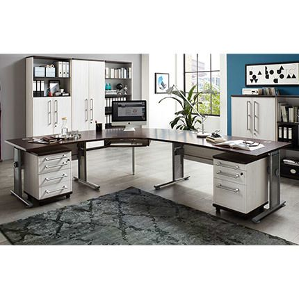 ensemble bureau angle avec deux caissons firo sebpeche31. Black Bedroom Furniture Sets. Home Design Ideas