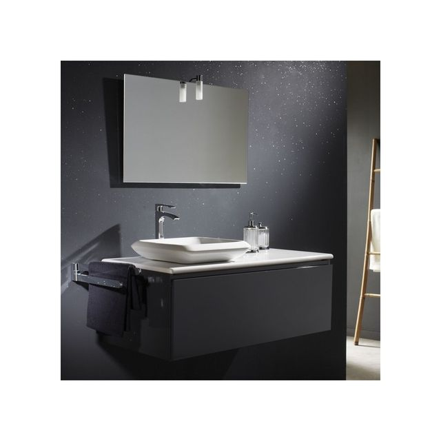 planetebain soldes meuble de salle de bain gris plan en c ramique vasque carr e en. Black Bedroom Furniture Sets. Home Design Ideas
