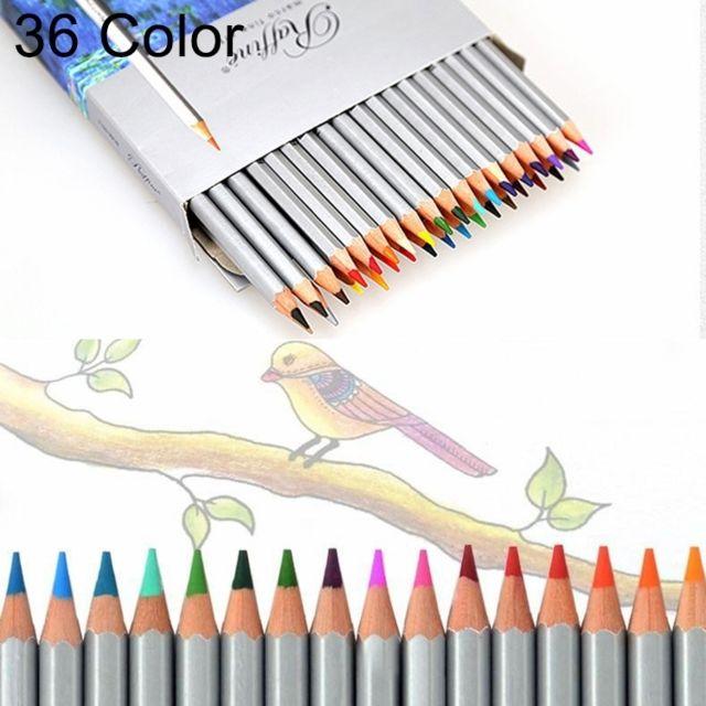 Dessins De Coloriage Professionnel Art Sketch Dessin De Couleurs Vibrantes Ensemble De Crayons De Couleur En Bois 36