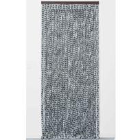 Provence Outillage - Rideau chenille 90 x 220 cm Gris clair/anthracite