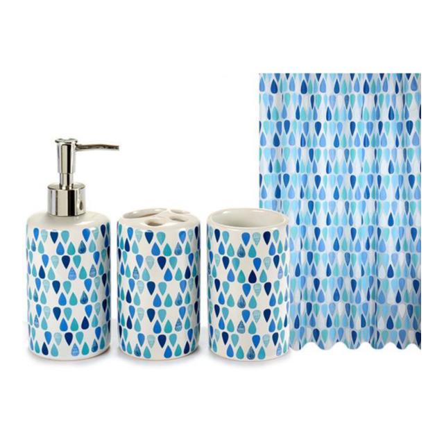 Sans Marque - Set 4 accessoires salle de bain \