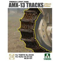 Takom - Accessoires militaires : Set de chenille sans patin en caoutchouc Amx-13