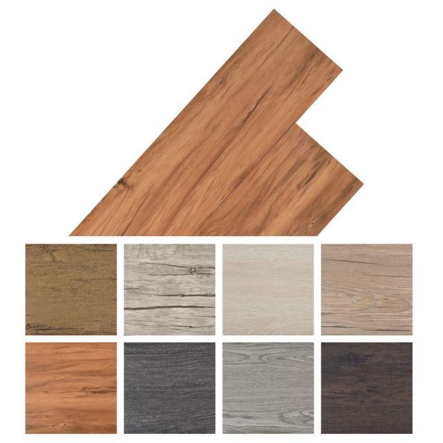 Vidaxl Planche de plancher 18 pcs Pvc 5,26 m² Marron chaud   Brun