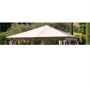 bricorama toile de toit tonnelle prado 4x3m taupe pas. Black Bedroom Furniture Sets. Home Design Ideas