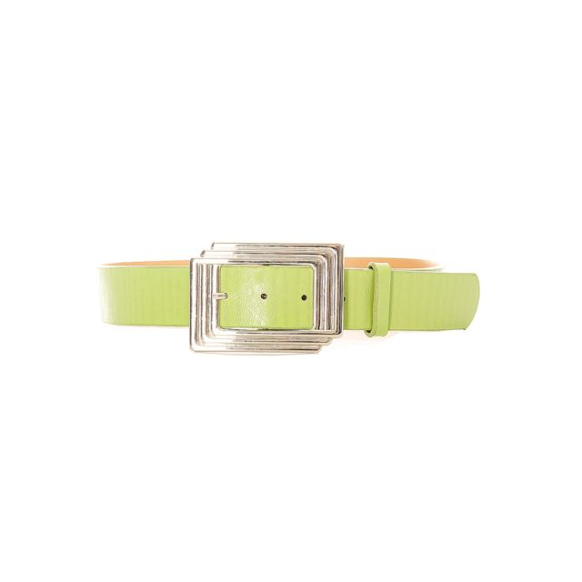 3653a746cac Grossiste-en-ligne - Ceinture femme en vert avec boucle rectangulaire.  Sg0218
