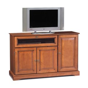 meuble tv hifi 3 portes merisier pas cher achat. Black Bedroom Furniture Sets. Home Design Ideas