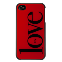 Qdos - Coque rigide smoothies my life rouge iPhone 4/4S