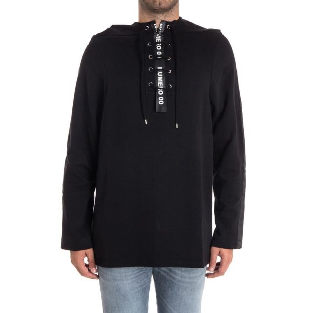 Numero 00 Numero00 Homme 1292BL Noir Coton Sweatshirt