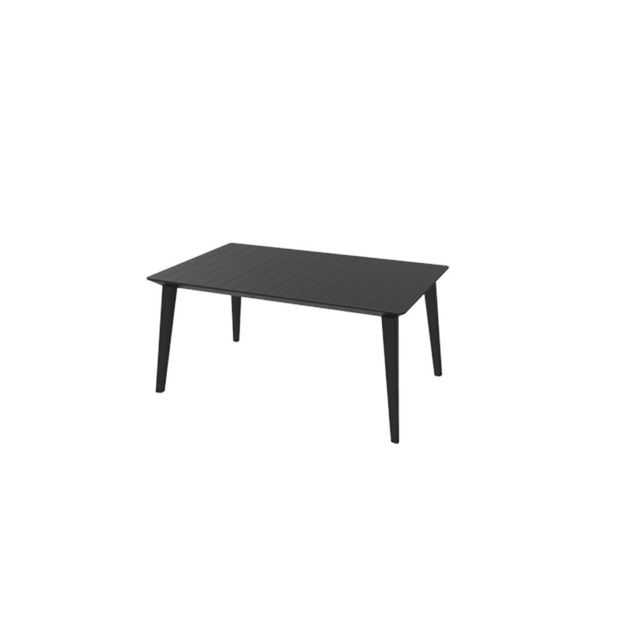 Table Roda extensible anthracite L.157/ 235 cm. Dim L.157/235 x l.97 x H.74 cm . Structure en résine Pvc. Coloris anthra