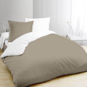vision parure de couette 100 coton 1 housse de. Black Bedroom Furniture Sets. Home Design Ideas