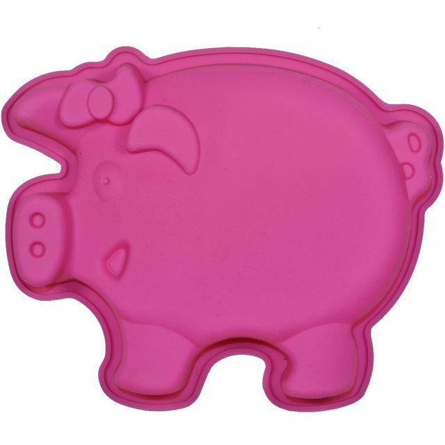 Promobo Moule à Gateau en silicone Cochon Forme Ludique Animal Rose