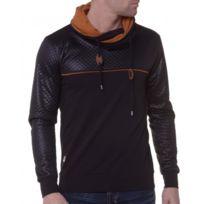 BLZ Jeans - Sweat Homme Bimatière Noir