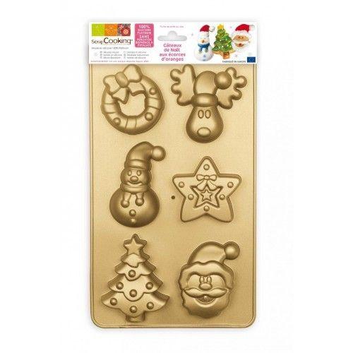 Scrapcooking De jolis et originaux moules à gateaux de Noël avec différentes formes