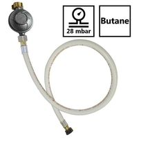 Proweltek - Kit détendeur 28 mbar Butane + tuyau flexible 1.50 m