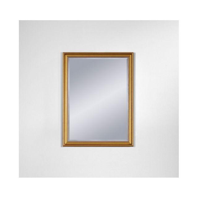 Deknudt Mirrors Miroir Ankara Gold Mini Traditionnel Classique Rectangulaire Dorée 45x60 cm