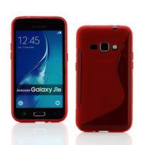 Lapinette - Coque Gel Vague S Pour Samsung Galaxy J1 2016 - Rouge