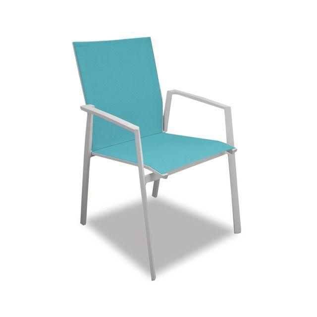 Salon de jardin moderne bleu 6 personnes Cyclades
