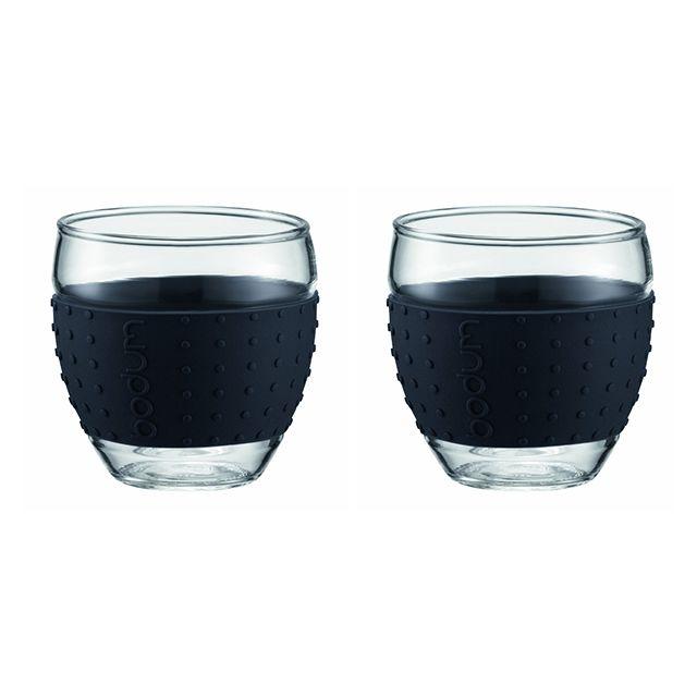 BODUM set de 2 tasses à café 10cl noir - 11165-01
