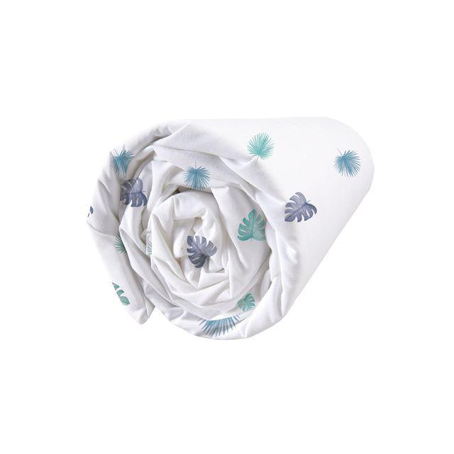 matt rose drap housse imprim fantaisie d inspiration jungle et aquarelle 100 coton matt et. Black Bedroom Furniture Sets. Home Design Ideas