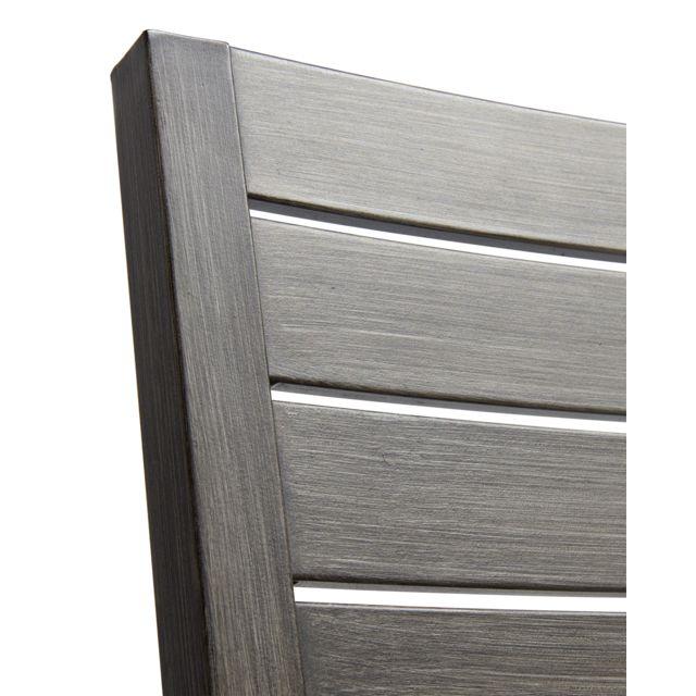 CARREFOUR - ROMANTIC - Fauteuil Honfleur - Aluminium - Gris