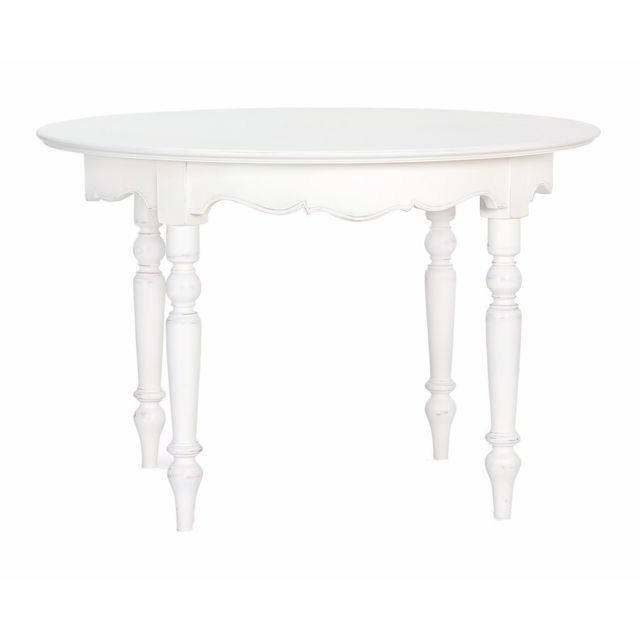 Tousmesmeubles Table de repas ronde - Lords - L 115 x l 180 x H 75