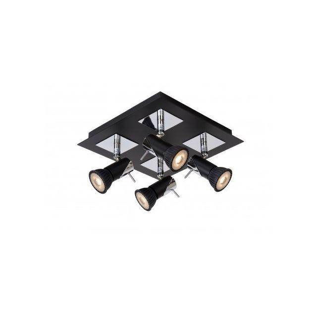 Lucide Brackx-led - Spot Plafond - Led Dim Gu10 - 4x5W 3000K - Noir
