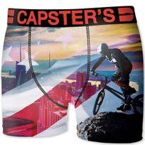 Capster'S Official - Boxer Homme Microfibre Ubi Beige Noir