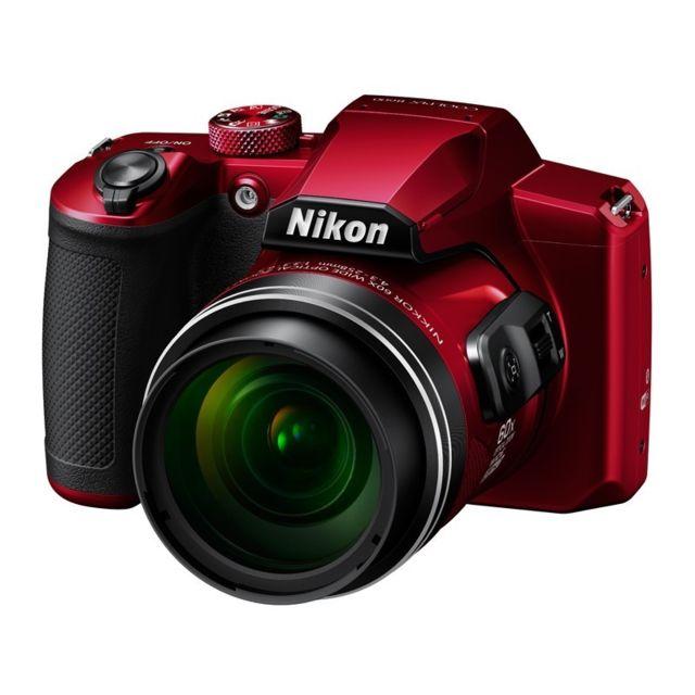 NIKON Bridge Coolpix B600 - Rouge Zoom optique 60× NIKKOR f/3.3 à 6.5- 16Mpx - full HD - focale 24 à 1440 mm, Dynamic Fine Zoom 2880 mm