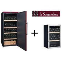 La Sommelière - La Sommeliere Vip265PCD-Cave a vin de vieillissement-265 bouteilles-A+ Et Cave a vin de service-40 bouteilles-B