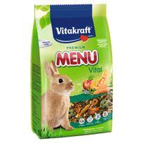 Vitakraft - Sachets Fraîcheur Premium Menu Vital pour Lapins Nains - 800g