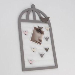 Amadeus - Pele mele cage oiseau en Mdf - Grey