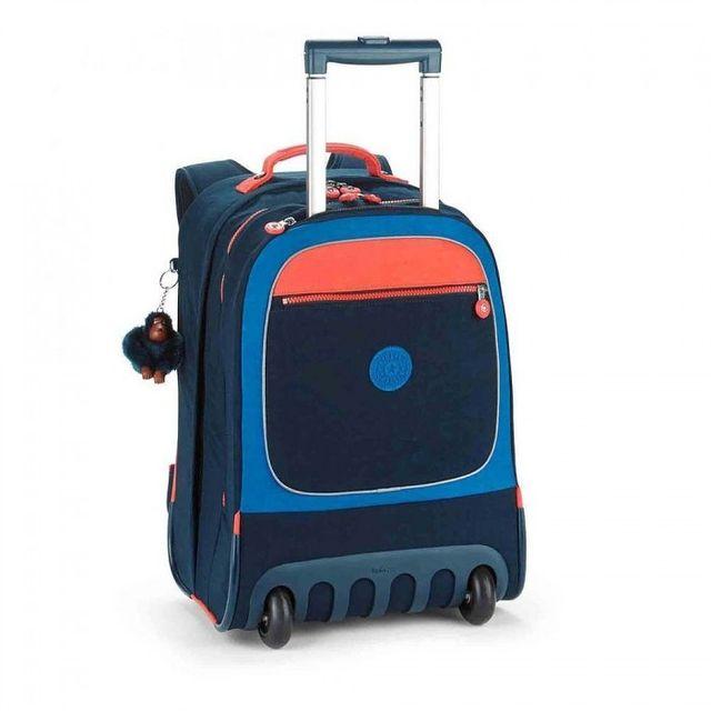 1b4110b5ea18 Kipling - Sac à dos à roulettes Clas Soobin Bleu Orange 49 Cm - pas cher  Achat   Vente Cartables, sacs à dos primaire - RueDuCommerce