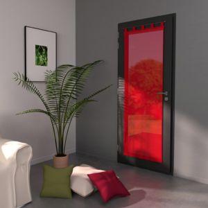 Eminza voilage vitrage 70 x h200 cm lido rouge pas for Eminza magasin