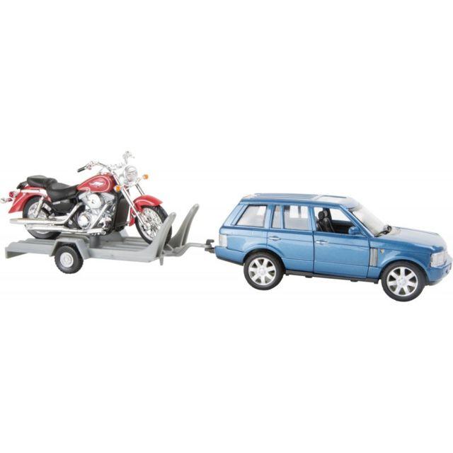 Small Foot Company Voiture miniature avec remorque pour moto