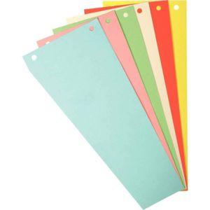 Forever - intercalaires trapézoïdales 180g 6 couleurs assorties - paquet de 120 fiches